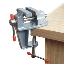 "Durable 3.5"" Aluminum Mini Jewelers Clamp On Table Bench Vise Vice Tool New"