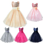 Princess Baby Girls Sequins Tulle Flower Party Dress Gown Formal Wedding Dresses
