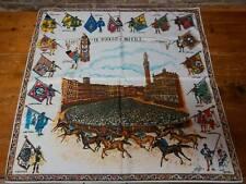PALIO DI SIENA - Fazzoletto PIAZZA DEL CAMPO 80 x 80 - scarf new!