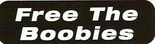 Motorcycle Sticker for Helmets or toolbox #27 Free the Boobies