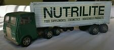 NUTRILITE Tin Toy Semi Trailer Truck Tin Toy Japan 1960s 1970s