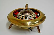 Antique Gambling Trade Stimulator CONTINENTAL Roulette Wheel Lighter Ashtray HTF