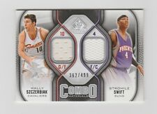 W.SZCERBIAK/S.SWIFT-2009-2010 SP GAME USED JERSEY COMBOS-#CM-SS 362/499
