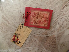 American Girl EMILY 'S PHOTOGRAPH ALBUM fr Accessories Red Floral ANY AG Doll