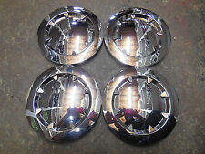 4 Smooth No Logo Emblem CHROME CENTER CAPS fit OEM GMC Yukon DENALI 20 in Wheels