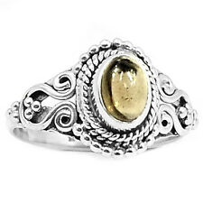 Smoky Quartz Cab 925 Sterling Silver Ring Jewelry s7 SMCR97