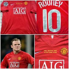RARE ROONEY MANCHESTER UNITED SHIRT JERSEY FINAL CHAMPIONS LEAGUE RONALDO GIGGS