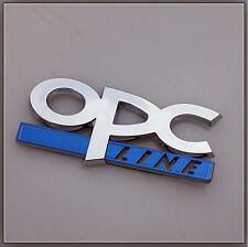 OPC LINE OPEL VAUXHALL CHROME DOOR TAILGATE BADGE SIDE WING CORSA ASTRA FENDER R