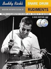 BUDDY RICH'S SNARE DRUM RUDIMENTS BOOK + 2 DVD SET