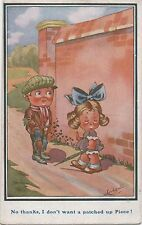 POSTCARD  COMIC  CHILDREN  No thanks I don't want...    Ludgate