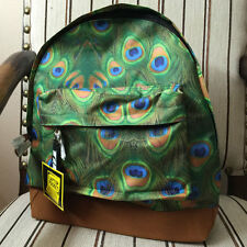 MI-PAC Green Peacock Backpack School Pack Padded Carry Handle 193751