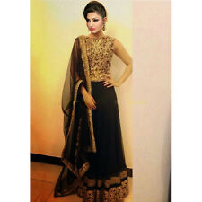 Indian Designer Black and Gold Bollywood Replica Lehenga Choli-395