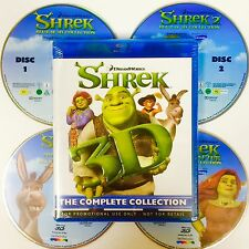 SHREK 3D Blu-ray, COMPLETE COLLECTION,All 4 Shrek Movies In 4 Disc,NEW & SEALED.