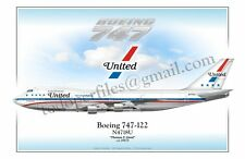 Boeing 747 United- Poster Profile