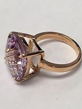Tiffany & Co. SPARKLERS Lavender Amethyst Ring - 18k Rose Gold -Size 5 FAST SHIP