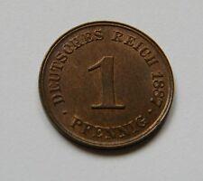 KAISERREICH: 1 Pfennig 1887 J, J. 1, fast stempelglanz, TOLLES STÜCK !!! SELTEN