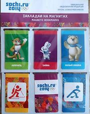 SOCHI 2014 OLYMPIC GAMES BOOKMARKS 2x sets WHITE BEAR LEOPARD HARE