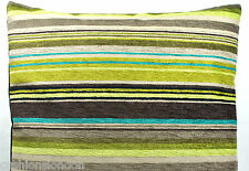 Green Cushion Cover Designers Guild Turquoise Stripe Pillow Case Brown Genova
