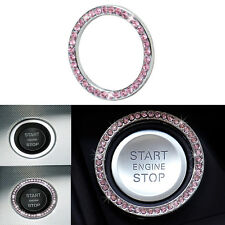 Pink Car Interior Start Stop Push Button Ignition Decorative Ring for BMW E70 71