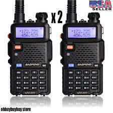 2X Baofeng UV-5R Dual Band UHF/VHF Radio RF 5W OUTPUT NEW Version US STOCK OY