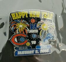 CHICAGO BEARS VS DETROIT LIONS GAME DAY PIN 1/3/16  BRAND NEW NFL GAME DAY PIN