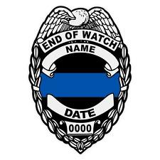 Police Custom or Memorial Reflective Badge Police Law Enforcement Decal Sticker