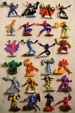"2.5"" Marvel Zizzlingers PVC Figure Complete Set Zizzle 2005 X-Men Spider-Man ++"