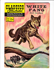 """Classic Illustrated  No.80     :HRN 153:      :1960's:      :""""White Fang"""":"""