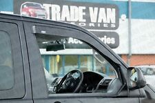 VW T5 TRANSPORTER CARAVELLE WIND RAIN DEFLECTORS WINDOW VISORS DARK TINTED