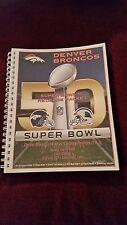 2015 NFL Denver Broncos Super Bowl 50 media guide / Manning / Miller / Thomas