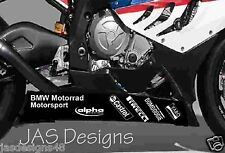 BMW S1000RR Motorrad Belly Pan Sponsor Decals WSB Superbike Moto GP Bellypan