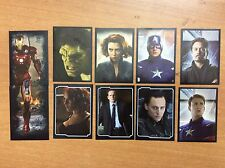 10 FIGURINE ADESIVE AVENGERS personaggi  PANINI MARVEL lot 71