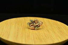 10K YELLOW GOLD BLACK HILLS GOLD LEAVES DESIGN RING BAND SIZE 4.5 #X10-0799