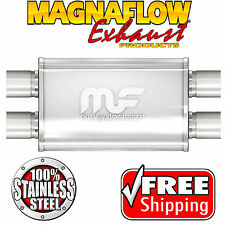 MAGNAFLOW 11378 Muffler Stainless Steel 2.25 ID Dual In Dual Out 4 X 9 Oval 17""