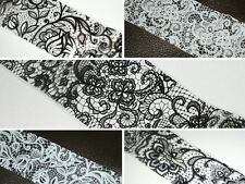 UK 5 x LACE SET 1 NAIL ART TRANSFER FOILS MANICURE WRAPS STICKERS POLISH DIY