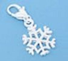 SILVER SNOWFLAKE CHARM CLIP ON CHARM FOR BRACELETS- LOOK AT MY EBAY SHOP- NEW