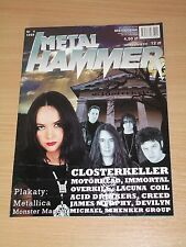 Metal Hammer magazine 4 1999 * Closterkeller on cover * Overkill * Metallica