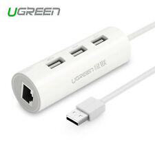 Ugreen 3 Port USB 2.0 Hub With 10/100Mbps Fast Ethernet LAN Wired Network for PC