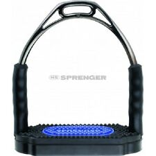 "Herm Sprenger Bow Balance Stirrup Irons , Anthracite (Black Steel) 4.75"" NEW!!"