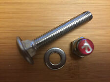 RALEIGH CHOPPER REPRODUCTION SEAT POST CLAMP BOLT  WITH R NUT - STAINLESS STEEL