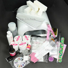 NEW Hot 36W UV Lamp Gel Polish Curing Dryer Light + Acrylic Nail Art Kit Set 789
