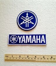 2 X Blue YAMAHA Embroidered iron patch .