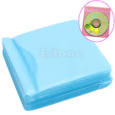 New 100pcs CD DVD Disc Double Side Cover Storage Case Bag Sleeve Holder Pack Set
