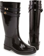 Genuine Coach Authentic Tara Brown Chestnut Waterproof Gloss Shiny Rain Boots 10