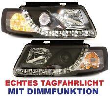 SCHEINWERFER VW PASSAT 3B 96-00 B5 mit LED TAGFAHRLICHT SCHWARZ DIMMFUNKTION DRL