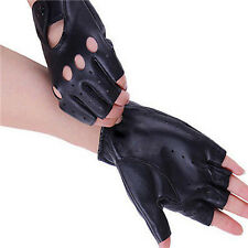1Pair Women PU Leather Half Finger Driving Gloves Fingerless Gloves Bicycle NEW