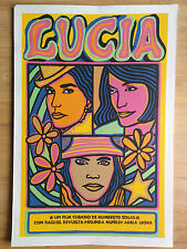 "SILKSCREEN MOVIE POSTER ""LUCIA""  RAUL MARTINEZ CUBA ART ARTE FILMS"