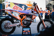 KTM SXF SX Plastic Kit 2016 + Lucas Oil Motocross Graphics + Forks + Seat Cover