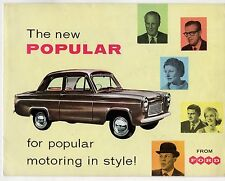 Ford Popular 100E 1959-60 UK Market Foldout Sales Brochure Anglia
