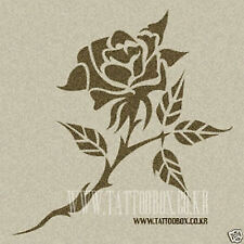 Gorgeous airbrush  tattoo stencils - Reusable - Rose 4 (Medium size)
